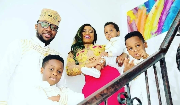 Emeka Okonkwo biography - family picture with wife and children